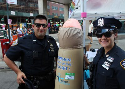 NYC Pridefest with Intact America's Foreskin Frank and NYCPD